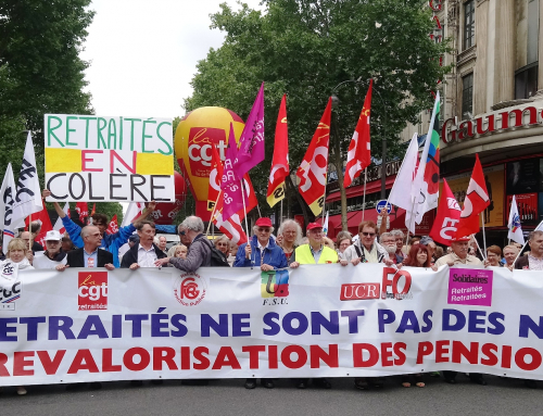 Le gouvernement maltraite les retraité-e-s ! Manifestations les 3 et 18 octobre.