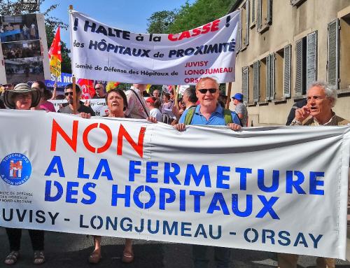 Manifestation à Juvisy pour la défense des hôpitaux de Juvisy, Longjumeau et Orsay (17 novembre 2018, 10h)