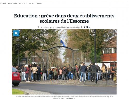 Grève dans deux établissements scolaires de l'Essonne